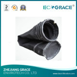 No tejido de caldera de cemento 850GSM fibra de vidrio filtro de tela bolsas de filtro