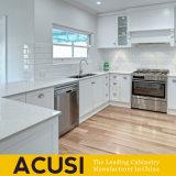 Armadi da cucina bianchi americani all'ingrosso di legno solido (ACS2-W07)