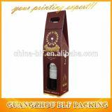 Kraft ha ondulato il contenitore impaccante di regalo di vetro di vino per la bottiglia 2