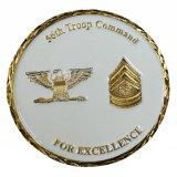Metallantike Messingandenken-Militärmünze mit Löwe-Firmenzeichen
