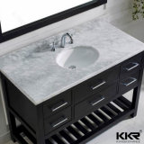 Surface solide Salle de bains en pierre semi lavabo encastré