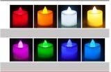 Vela Flameless plástica do diodo emissor de luz Tealight para o Natal, Holloween