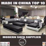 Europäisches Art-Möbelfaux-Leder-Sofa mit Kaffeetische