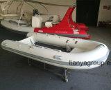 Bateau en aluminium de vitesse de bateaux de côte de fond plat de Liya 2.4m-4.8m