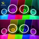 Halo mayorista Angel Eye Round RGB de 7 pulgadas de 4 pulgadas, faros antiniebla LED Auto para Wrangler