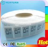 globaal GEN2 Vreemd HIggs4 UHF aln-9745 Zelfklevend RFID het inlegseletiket van multi-gebruiksEPS voor kledingsbeheer