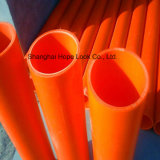 Garnitures de tube souterraines de PVC d'orange rigide électrique de pipe