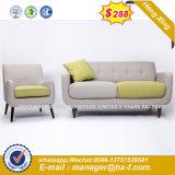 Sofà domestico di cuoio dell'ufficio del blocco per grafici di legno del sofà (HX-8NR2248)