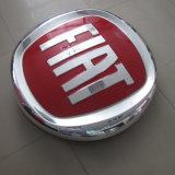 Placage revêtement acrylique vide entreprise Auto Shop Voiture Voiture ronde Logo Logo Maker pour FIAT