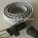 Light Grey Thin Elastic Girls Belts with Needle Buckle
