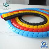 Manguera espiral plana de plástico manga protectora