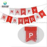 Postes de papier de fête d'anniversaire d'impression d'estampage d'or
