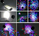 夜ライトUSBの魔法の球の段階効果の照明3W RGB LED段階ランプ100-240Vの水晶変更カラーランプ党ディスコクラブDJはつく