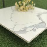 Italienischer Entwurfs-Polierbaumaterial-weiße Marmorkeramik-Fliesen für Fußboden und Wand (SAT1200P)