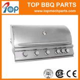 3つのバーナーのオーブンが付いている屋外のステンレス鋼のガスBBQのグリル