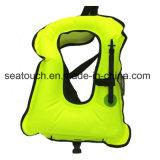 휴대용 팽창식 구명 조끼 최고 가벼운 부력 조끼 부유물 반지 성숙한 아이를 위한 Snorkeling 급강하 한 벌 장비 수영