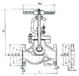 """Нормальный вентиль J41h-64c пара литой стали (1/2 """" - 12 """")"""