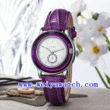De Klassieke Polshorloges van het Leer van het Horloge van de bevordering (wy-023A)