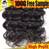 毛の波状のブラジルの人間の毛髪は毛を所有するのを好む