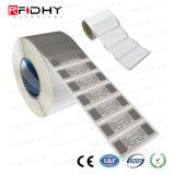 Etiqueta engomada elegante de la etiqueta pasiva de la frecuencia ultraelevada RFID de la gerencia 860MHz-960MHz de Apparal