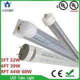 Vittoria che illumina il tubo poco costoso dell'indicatore luminoso LED del tubo di 2FT 3FT 4FT 5FT 6FT 9W 18W T5 T8 con l'UL di RoHS del Ce