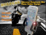 Soporte de montaje universal móvil teléfonos de manillar Motos Monte +cargador USB