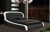 Base Tufted di camera da letto dell'insieme del doppio moderno del cuoio