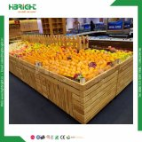 Supermarkt-hölzerne Obst- und GemüseZahnstange
