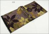 レディース男女兼用の可逆カシミヤ織の感じの冬の暖かい点検されたダイヤモンドの花の印刷の厚く編まれた編まれたスカーフ(SP271)