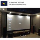 고정 프레임 영사기 스크린 홈 영화관 청각적인 투명한 스크린