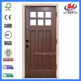 Дверь MDF твердой древесины стеклянная высеканная внешняя деревянная отлитая в форму (JHK-G32-1)