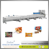 Automatischer Arbeitsweg-Kissen-SelbstInflatig Beutel-Verpackmaschine