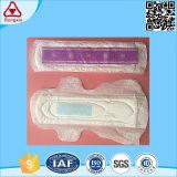 Essuie-main sanitaires de Madame serviette hygiénique négative organique de puce d'anion de coton