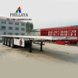 40FT 53FT 48FT Behälter-Transport-LKW-halb flaches Bett-Schlussteil mit 80 -100 Tonnen