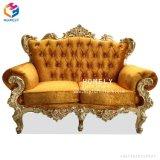 Il legno solido intaglia il sofà Hly-Sf58 di buona qualità