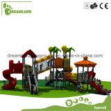 Campo da giuoco esterno della strumentazione del parco di divertimenti dei bambini di disegno del fumetto