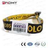 Wristband di festival RFID di evento di HF 13.56MHz ISO14443A Ntag 213
