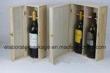 Rectángulo de regalo del almacenaje del vino/caja de madera verdaderos laqueados