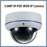 appareil-photo d'IP de télévision en circuit fermé de garantie à l'épreuve du vandalisme du dôme 3.0MP mini