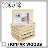 Frame de retrato inacabado da madeira contínua para DIY