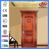 Puerta de talla de madera modificada para requisitos particulares pequeño diseño de la India
