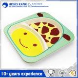 Placa de cena plástica blanca de la melamina del mismo tamaño respetuosa del medio ambiente