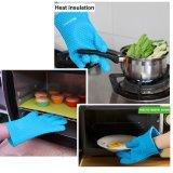 Silicón a prueba de calor que cocina el sostenedor de crisol de la parrilla del horno de los guantes que cocina los mitones
