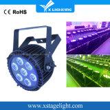 Qualität 7X15W RGBWA dünner wasserdichter LED flacher UVNENNWERT kann beleuchten