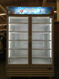 ロックおよびハンドルによってスーパーマーケットのガラスドア冷却装置の自動霜を取り除きなさい