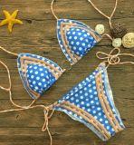 Дешевым костюм Swim Swimwear Бикини способа цены голубым напечатанный цветком