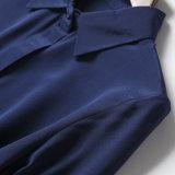 Camicetta personalizzata delle signore del tessuto di seta del cardigan della camicia di modo