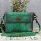 Vente en gros en cuir réelle de petite taille de sac à main de 2017 femmes des plus défunts de modèle sacs de dames en Chine Emg5211
