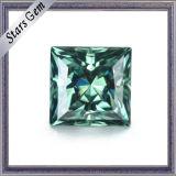 Groene Kleur 7*7mm Vierkante Prinses Gesneden Losse Steen Moissanite