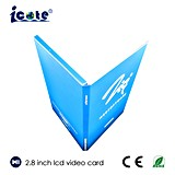 2.8 буклет дюйма TFT LCD видео- для промотирования продуктов компании